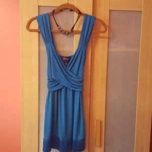 Blue baby goll style top size small